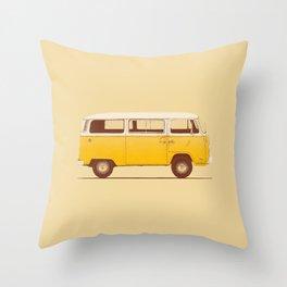 Van - Yellow Throw Pillow