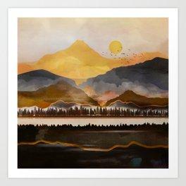 Pure Wilderness at Dusk Art Print