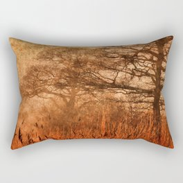 Misty Trees in Watergate Park Rectangular Pillow