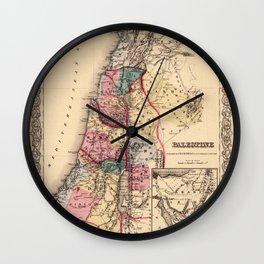Map Of Palestine 1856 Wall Clock