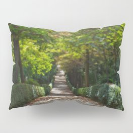 Tree lined path in Madrid Pillow Sham
