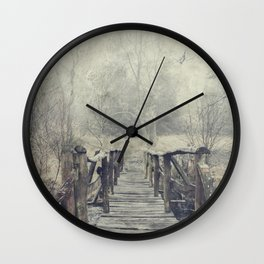 a Bridge to Cross Wall Clock