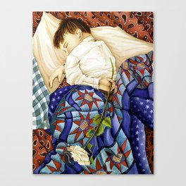 Child Sleeping #2 Canvas Print