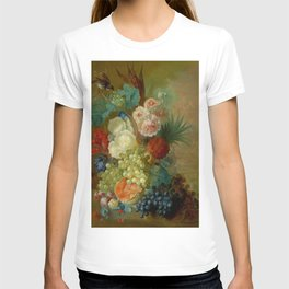 "Jan van Os ""Still life of peonies, a cock's comb and morning glories"" T-shirt"
