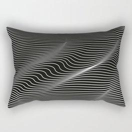 Minimal curves black Rectangular Pillow