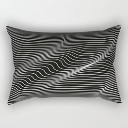 Minimal curves black Rectangular Pillow