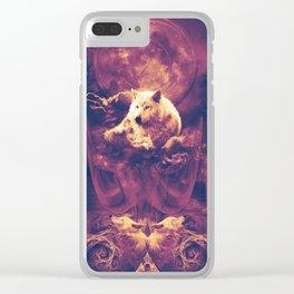 Season of the Wolf Digital Art Clear iPhone Case