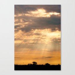 African Summer Sunset 2 Canvas Print