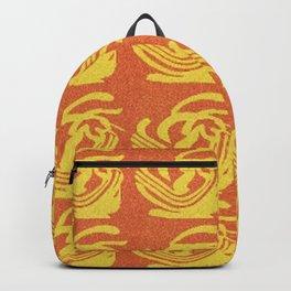 Gold on Burnt Orange Backpack