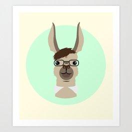 Mr. Llama Art Print