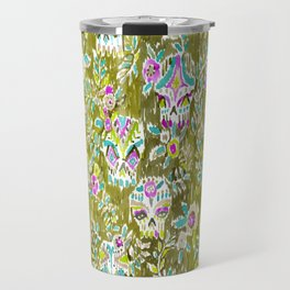 Skulls and Leaves Travel Mug