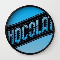chocolate Wall Clocks featuring Chocolate by Rhys Jenkins