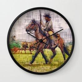 Cowboy and horse  Wall Clock