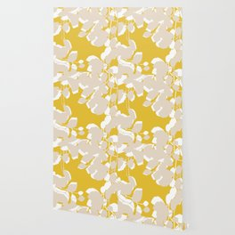 leave mustard yellow Wallpaper
