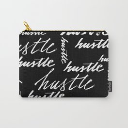 Seamless pattern hustle text grunge music handwriting Carry-All Pouch