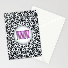 Soccer Mom / 3D render of hundreds of soccer balls framing Mom text Stationery Cards