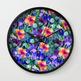 My Tropical Garden 9 Wall Clock