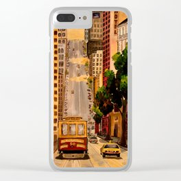 San Francisco Van Ness Cable Car Clear iPhone Case