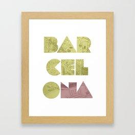 BARCELONA (Blok Series) Framed Art Print