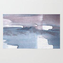 Dark gray colorful watercolor texture Rug