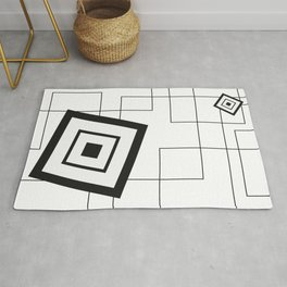 """""""From Big to Small"""" abstract composition Rug"""