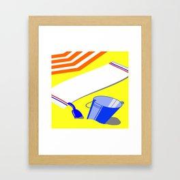 Beach arrangement Framed Art Print