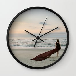 Greeting an East Coast Sunrise Wall Clock