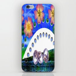Flowers and Diamonds iPhone Skin