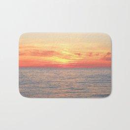 Watercolor Sunset, Cape Breton 02, Nova Scotia, Canada Bath Mat
