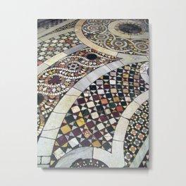 Mosaic Tile Vatican Floor (Hidden Jewish Star) Metal Print