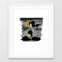 dark side of the moon Framed Art Prints featuring Dark Side of the Moon by Dnzsea