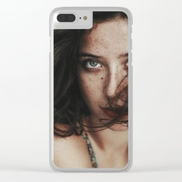 Freckle girl Clear iPhone Case