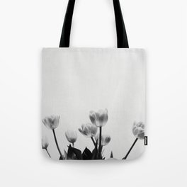 Black & White Tulips Tote Bag