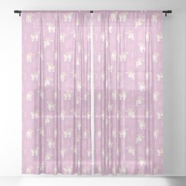 The Kids Are Alright - Pastel Pinks Sheer Curtain