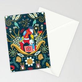 Technological folk art Stationery Cards