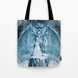 Ice Queen and Dragon Tote Bag