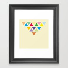 TRIANGLE COMPOSITION Framed Art Print