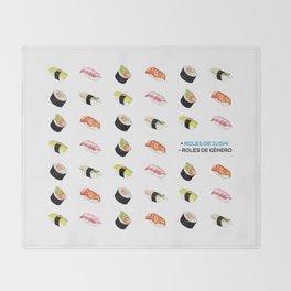 + Roles de Sushi - Roles de Género Throw Blanket