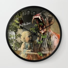 """""""Asking For It"""" Wall Clock"""