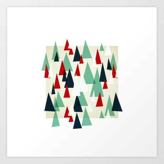 Abstract Forest by Friztin Art Print