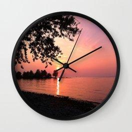 Sundown on Lake Constance Wall Clock
