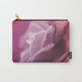 Noisette Heirloom Rose pink  enchanting floral macro photography Carry-All Pouch