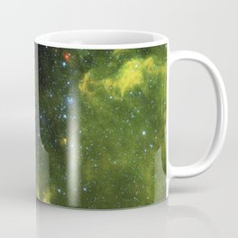 The six red dots in this composite picture indicate the location of the first new near-Earth asteroi Coffee Mug