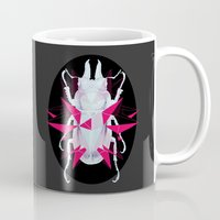 beetle Mugs featuring Beetle by Kajoi