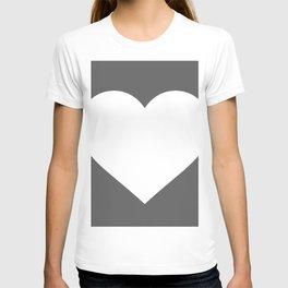 Heart (White & Grey) T-shirt