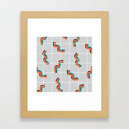 Curly fries inspired Framed Art Print