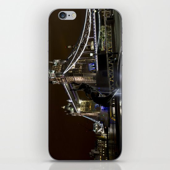 Girl and dolphin and Tower Bridge iPhone & iPod Skin