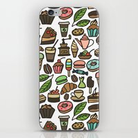 macaroon iPhone & iPod Skins featuring Coffee and pastry. by Julia Badeeva