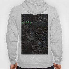 I Love You Letter Punches Abstract Black Hoody