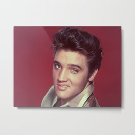 ELVIS PRESLEY - RED Metal Print
